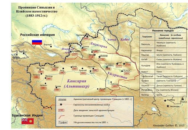 Провинция Синьцзян и Илийское наместничество (1883–1912 гг.)