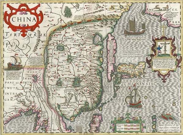 Карта Восточной Азии. Начало XVII в.