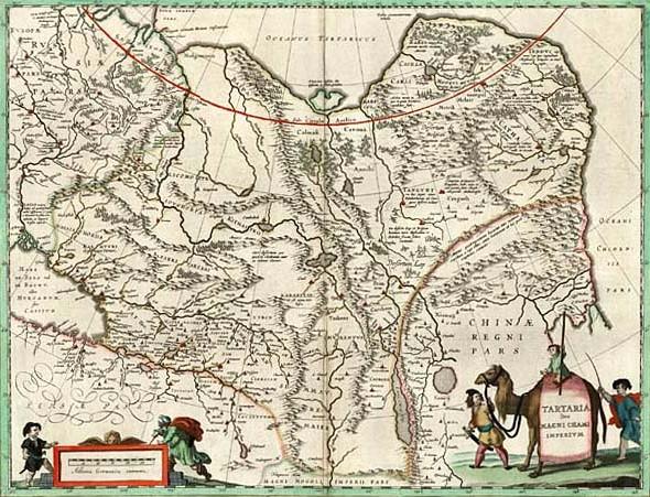 Карта Татарии (Северной и Центральной Азии). Середина XVII в.