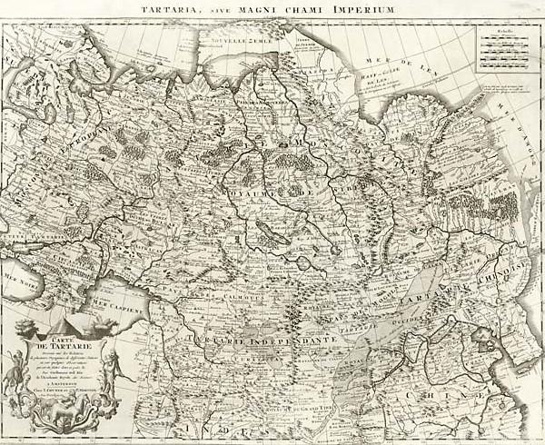 Карта Татарии. Конец XVII в.