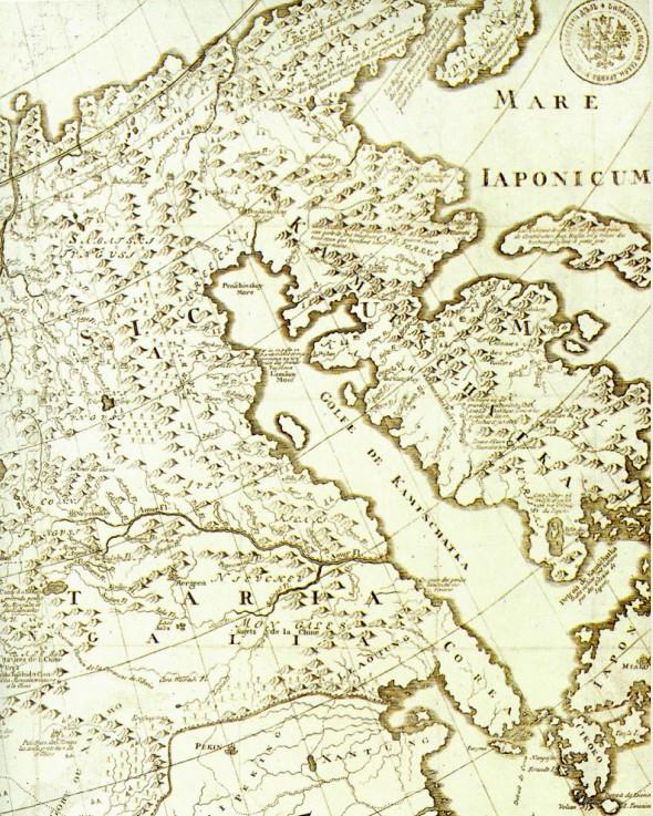 Фрагмент карты Дальнего Востока. Начало XVIII в.