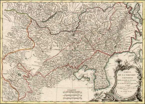 Карта Китайской Татарии. Вторая половина XVIII в.