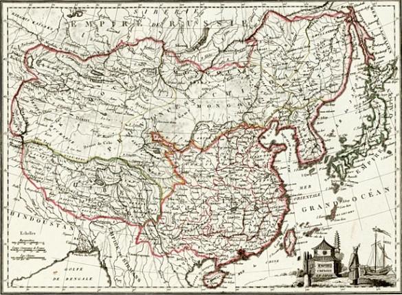Карта Цинской империи. Начало XIX в.