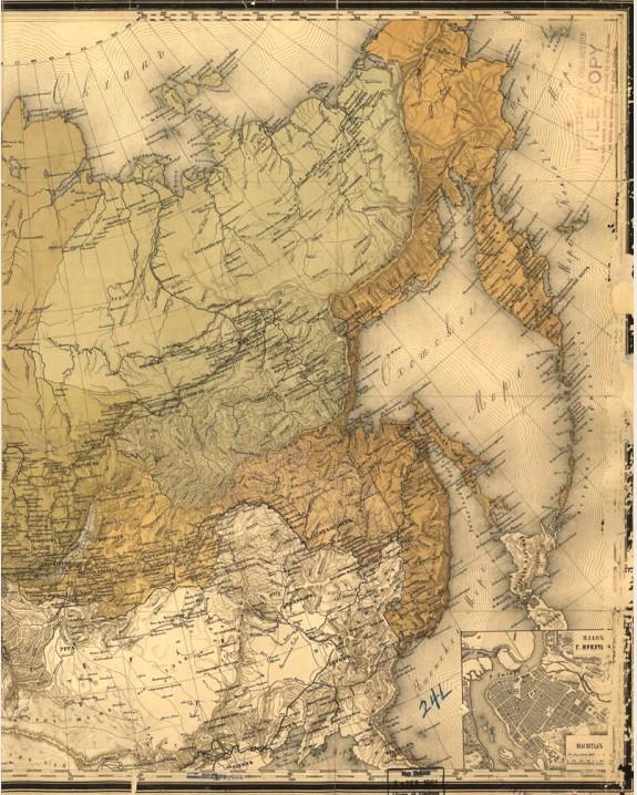 Восточные регионы Российской империи. 1868 г.